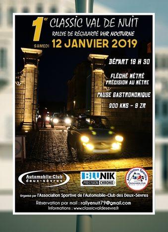 Affiche Rallye Classic Val de Nuit 2019