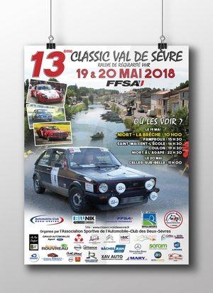 Affiche Rallye Classic val de Sevre 2018