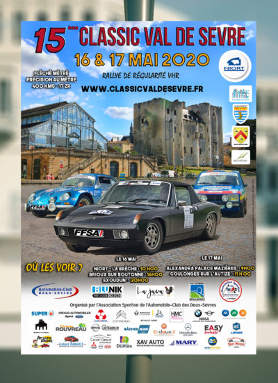 Affiche Rallye Classic Val de Sèvre 2020
